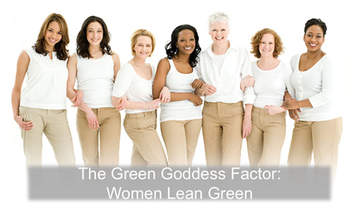 The Green Goddess Factor: Women Lean Green