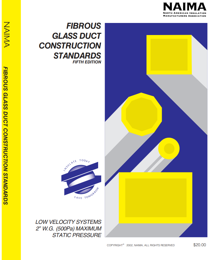 NAIMA Fibrous Glass Duct Construction Standards 5th Edition cover