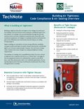 TechNotes - Building Air Tightness: Code Compliance & Air Sealing Overview for Low-Rise Residential Buildings