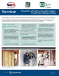 Installation of Common Insulation Types: Wood-Frame Walls and Attics