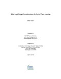 Wind Load Design Considerations for Out-of-Plane Loading